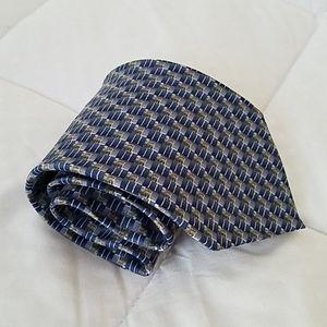 Van Heusen Blue 100% Silk Tie